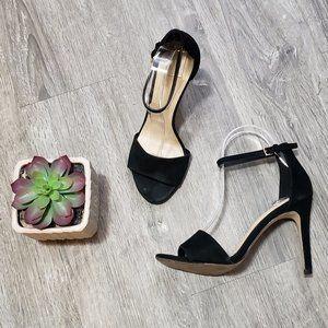 Aldo * Black Leather Minimalist Heels * Sz 7